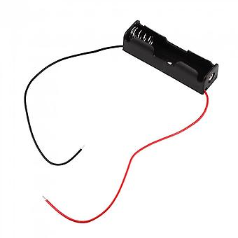 Plastic Battery Storage Case Box Holder For 1-aa Battery With 6'' Cable Lead