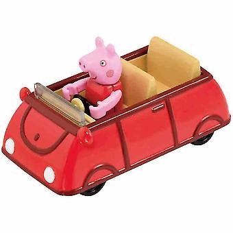 פפה חזיר מכונית צעצועים קריקטורה סגסוגת מכונית מודל