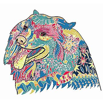 Colorful bear Wooden Jigsaw Puzzle Piece Game for Kids and Adults(A5)