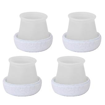 4pieces wit ronde vorm vilt siliconen meubels stoel tafel voeten pad