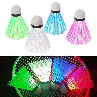 4pcs Colored Plastic Led Luminous Badminton