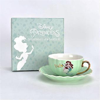 Widdop & Co. Colecionável Disney Princesa Ariel Pequena Sereia Osso China Cup & Pires D1705