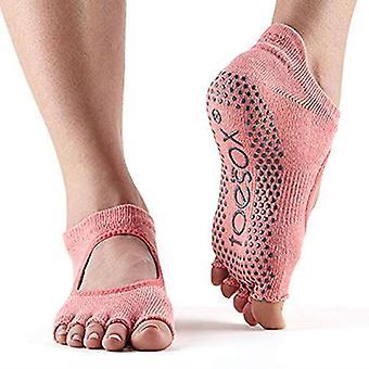 ToeSox No Toe Bellarina Pilates Yoga Dance Martial Arts Grip Strumpor - Melon