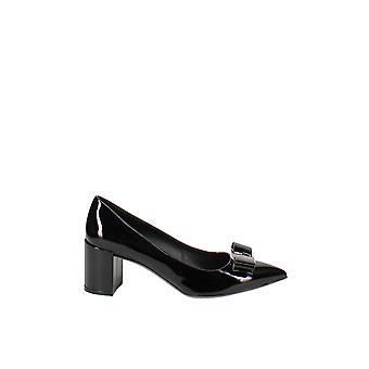 Salvatore Ferragamo   Alice Patent Leather Block Heel Pumps
