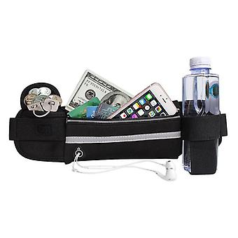 Waist bag for workout with compartment for phone water keys reflex