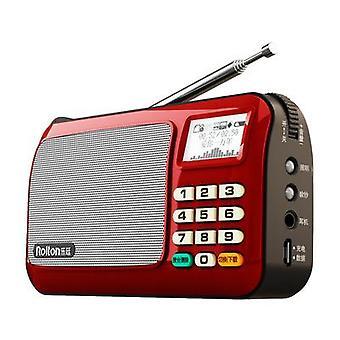 MP3 Přehrávač Mini přenosné audio reproduktory FM Rádio s LCD obrazovkou Vysoká LED svítilna