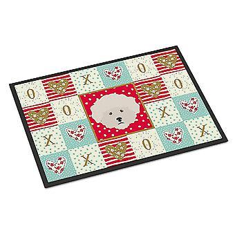 Door mats carolines treasures ck5185jmat bichon fris  love indoor or outdoor mat 24x36
