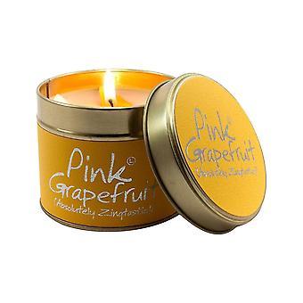 Candles lily flame pink grapefruit tin  yellow