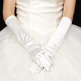 Sexy Women Long Cotton Blending Night Club Gloves Long Prom Hand Warmer Gloves