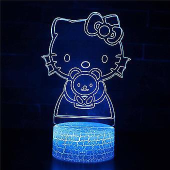 Belita Amy 3d Illusion Lampe 7 Couleurs Changement Optique Touch Lumière Usb Et Télécommande Art Déco Faire Une Atmosphère Romantique Noël Saint-Valentin B