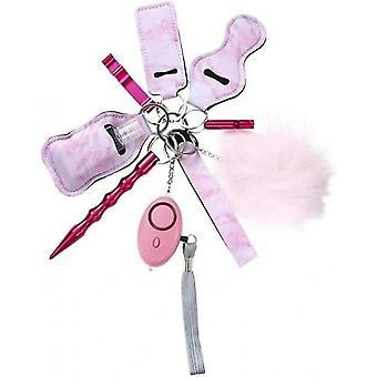 Handgelenk Schlüsselanhänger Set für Frauen Selbstverteidigung