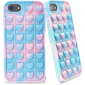 Phone Case Push Pop Bubble Fidget Sensory Toy Heart Shape