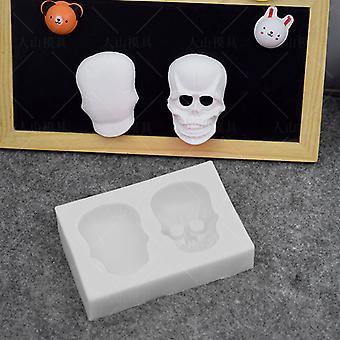 Halloween Czaszka Silikonowa forma Ciasto Pieczenie Dekoracja Czekoladowa forma