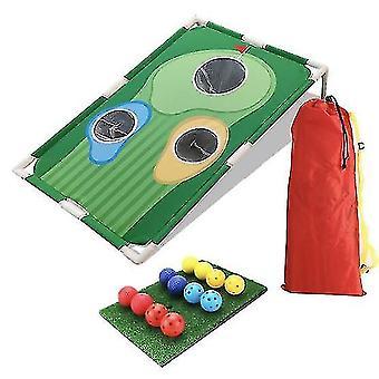 Huacreate Backyard Golf Cornhole Game - Nouveau jeu de golf amusant pour tous les âges