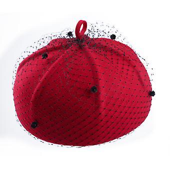 Malha lã lã cartola outono inverno quente pintor chapéu francês idade reduzindo versátil boina de abóbora