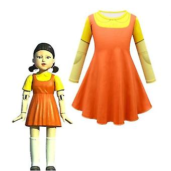 Squid Game 123 Costume de poupée d'homme en bois Costume d'Halloween