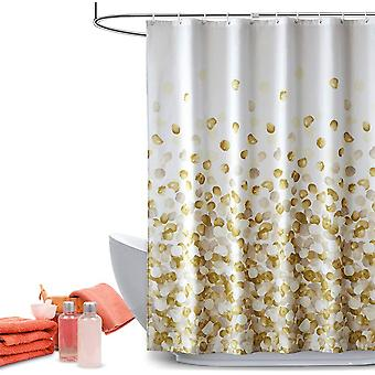 Shower Curtain Set Bathroom Fabric Waterproof, Colorful And Fun, Standard Size 72 X 72 (golden Petals)
