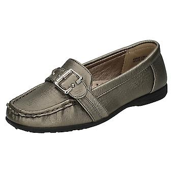 Ladies Basics Buckle Strap Moccasin