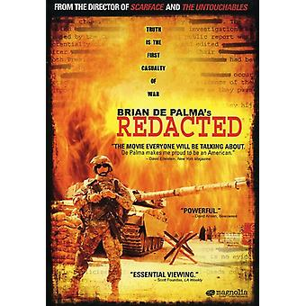 Redacted [DVD] USA import