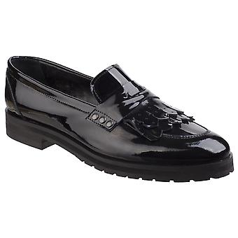 Riva Womens Olympia Ladies Loafer Black Patent