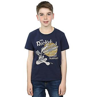 Looney Tunes Boys Wile E Coyote Rocket Board T-Shirt