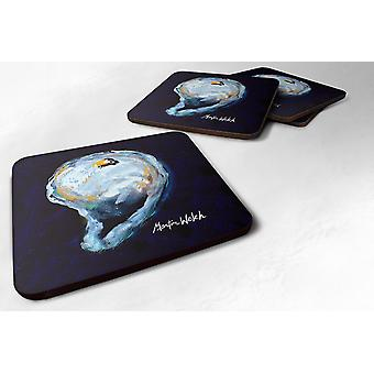 Carolines Treasures  MW1136FC Set of 4 Oyster Give me one Foam Coasters