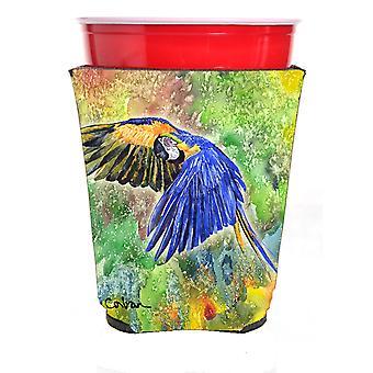 Carolines Treasures  8605RSC Parrot Red Solo Cup Hugger