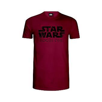 Star Wars Rogue One Official Big Chest Logo Burgundy T-Shirt