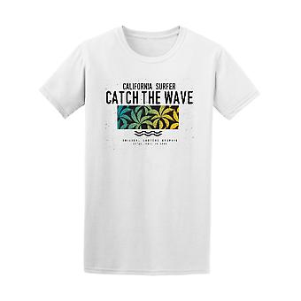 California Surfer Catch The Wave Palm Tee - Image by Shutterstock