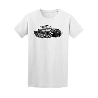Old Battle Tank Of World War Tee Men's -Image by Shutterstock