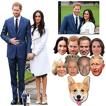 Royal Wedding 2018 Prince Harry & Meghan Markle Cutout / Standee & Mask Silver Package