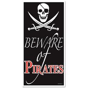 Vorsicht bei Piraten Tür Cover