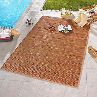 Diseño Outdoorteppich melliert loto Terra naranja | 102443