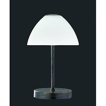 Lampe de Table en métal rouille trio éclairage Reine moderne Antique