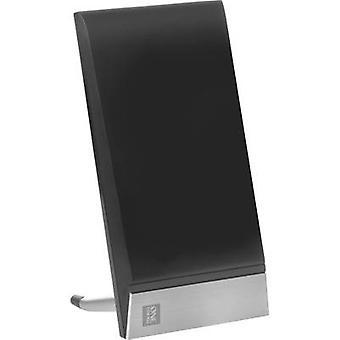 En för alla SV 9335 DVB-T/T2 aktiva planar antenn inomhus förstärkning: 42 dB svart