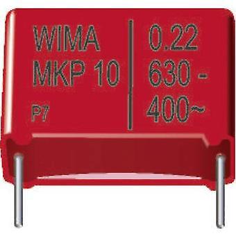 WIMA MKP1J022203F00KSSD 1 kpl (s) MKP ohut kalvo kondensaattori Radial Lyijy 0,022 μF 630 V DC 20% 10 mm (p x l x k) 13 x 5 x 11 mm