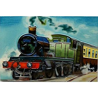 YH Arts Ceramic Wall Art, Steam Train 12 x 8