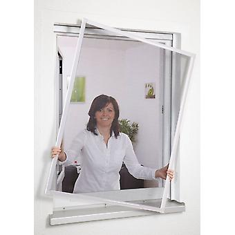Insect repellent insect screen window frame without drilling 130 x 150 cm white
