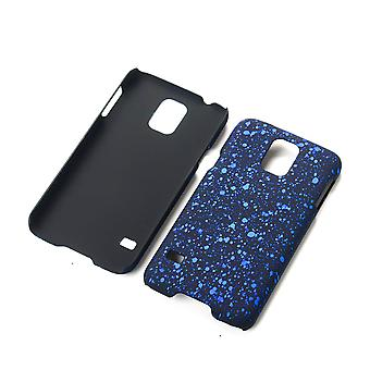Cell phone cover case bumper skal för Samsung Galaxy S5 / S5 neo 3D Star blå
