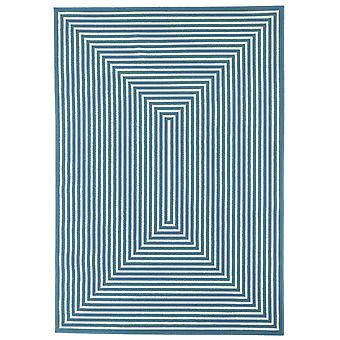 Outdoor carpet for Terrace / balcony light blue white vitaminic braid light blue 133 / 190 cm carpet indoor / outdoor - for indoors and outdoors