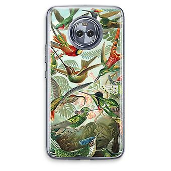 Motorola Moto X4 boîtier Transparent (doux) - Haeckel Trochilidae