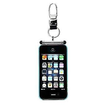 iHangy Keychain with TouchPen Stylus for Apple iPhone 4/4S/3GS/3G/iPod (Silver)