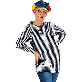 Ringelpulli langer Arm Damen Kostüm Halloween Karneval