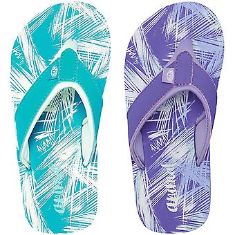 Animal Girls Swish Aop Kids Beach Summer Holiday Slip On Sandals Flip Flops