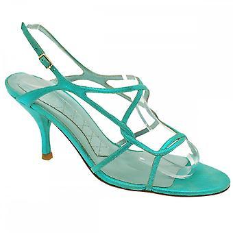 Magrit Met Green Sling Back Sandal