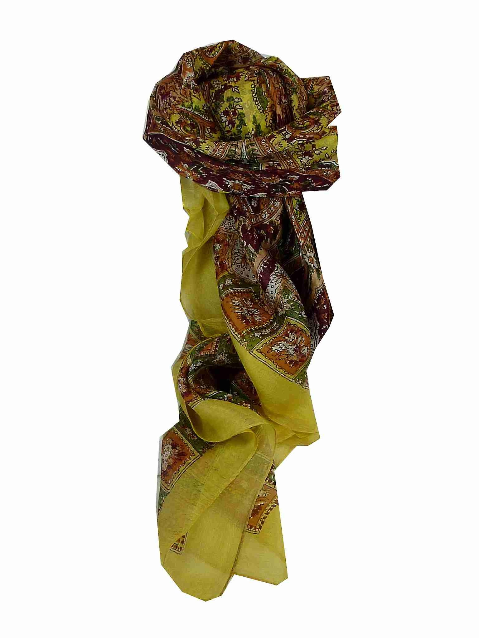 Mulberry Silk Traditional Square Scarf Nagal Sand by Pashmina & Silk