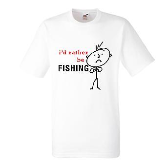 Mens I sarebbe piuttosto essere pesca bianco Tshirt