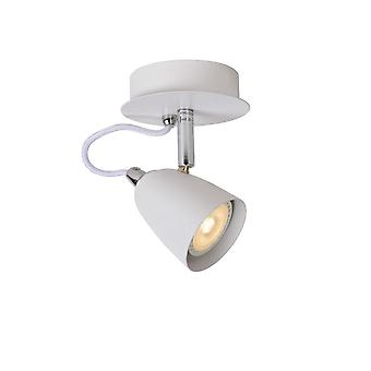 Lucide Ride-LED moderna runda metall vit tak plats ljus