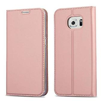 Cadorabo Case for Samsung Galaxy S6 EDGE case case cover - Phone case with magnetic clasp, stand function and card compartment – Case Cover Protective Case Case Book Folding Style