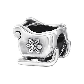 Schlitten - 925 Sterling Silber Plain Beads - W11032X